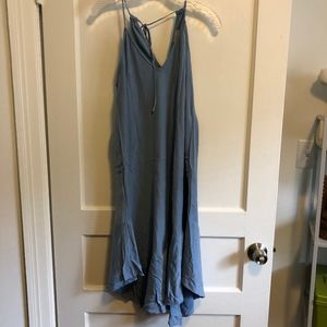 Anthropologie blue gray summer dress